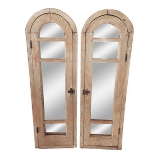 Vintage Window Framed Mirrors - A Pair