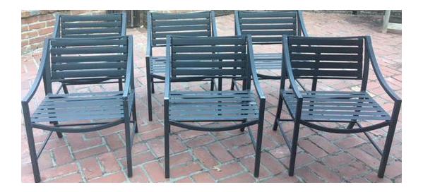 Vintage Brown Jordan Chairs   Set Of 6