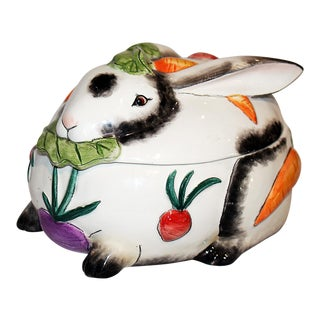 Fitz & Floyd Spotted Bunny Rabbit Jar