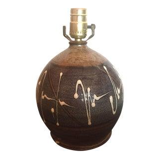 Mid-Century Modern Studio Pottery Lamp