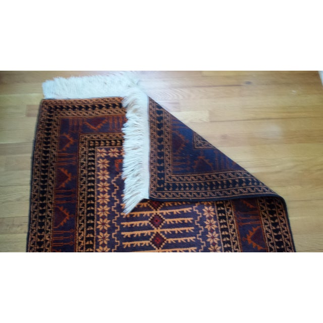 """Persian Shiraz Hand-Knotted Oriental Wool Rug - 4'10"""" X 2'11"""" - Image 7 of 11"""