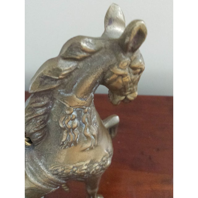 Brass Carousel Horse - Image 3 of 8