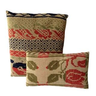 Bold Graphic Pillows - A Pair