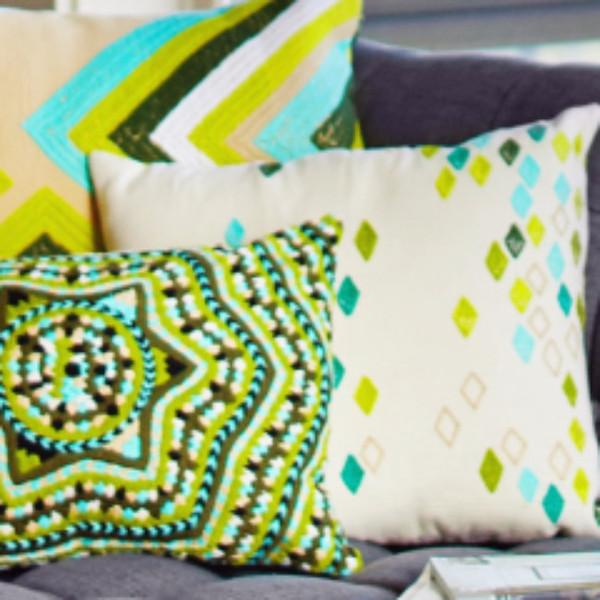 Green Diamond Pillow Cover - Image 4 of 5