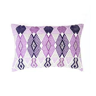 Handwoven Purple & Grey Guatemalan Pillow