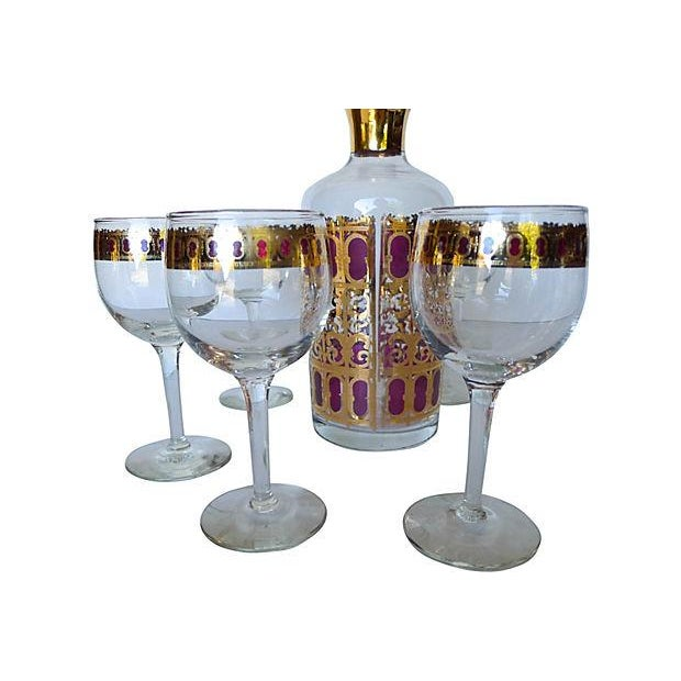 Image of Mid Century 6-Piece Bar Set with Carafe