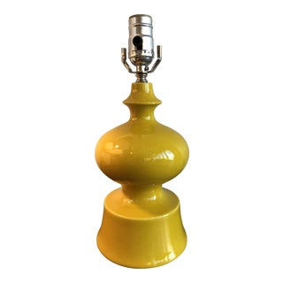 Vintage Yellow Ceramic Table Lamp