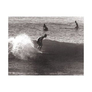 Black & White Vintage Surfer Photo X