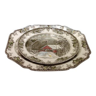 English Platters by Johnson Bros - Set of 2