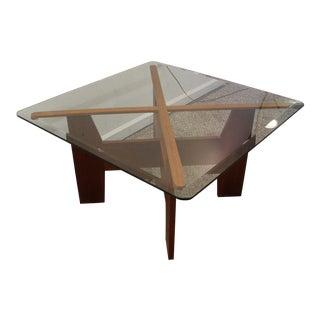 Danish Modern Teak X-Shaped Coffee Table