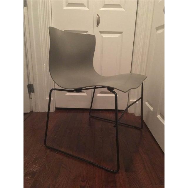 Image of Vignelli Knoll Grey Armless Handkerchief Chair
