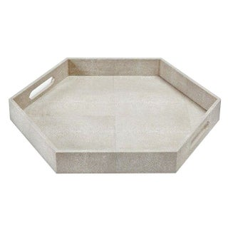 Regina Andrews Hexagonal Faux Shagreen Tray