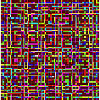 Untitled 3055-342 Modern Geometric Print by Suga Lane