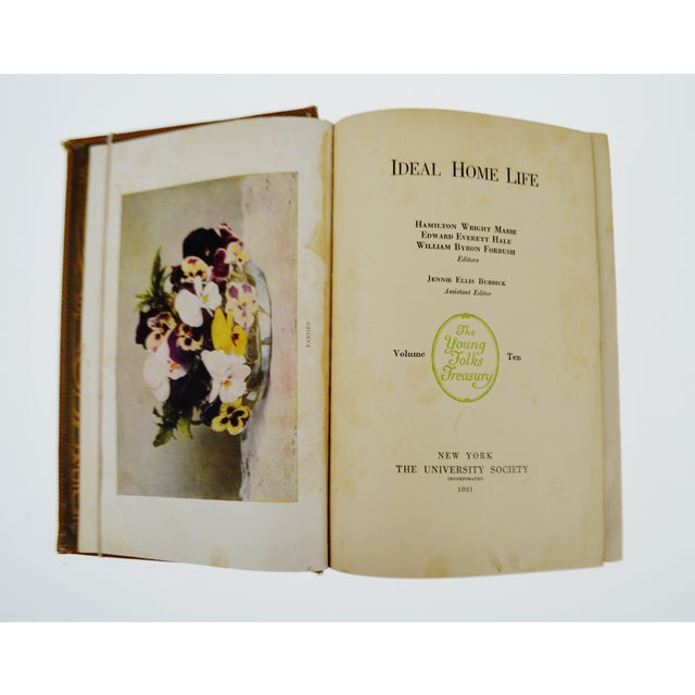 Vintage 1921 Ideal Home Life The Young Folks Treasury Vol. 10 - Image 4 of 10