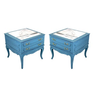 Mid-Century French Style Nightstands - A Pair