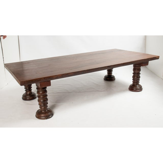 Image of Vintage South Indian Solid Wood Table