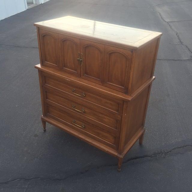 Furniture Companys: White Furniture Co. Mid-Century Walnut Highboy