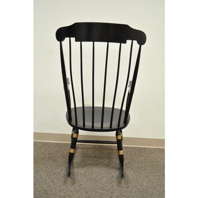 Vintage Sigill College University Nichols & Stone Windsor Rocking Chair - Image 8 of 11