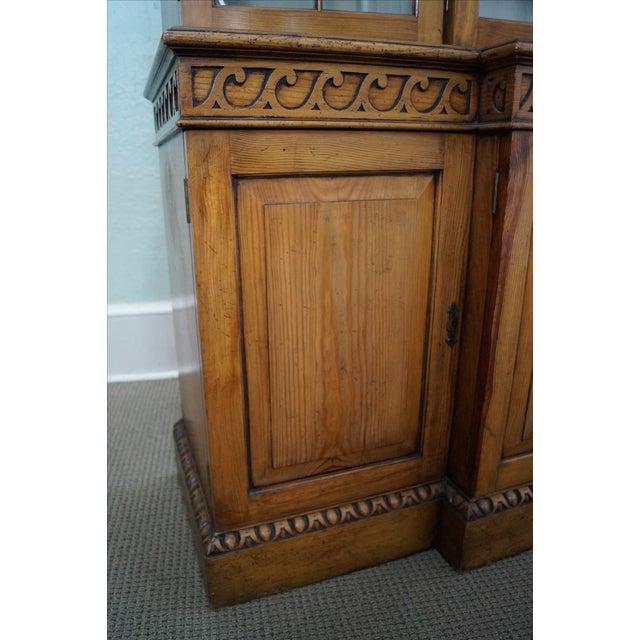 Custom Made English Regency Pine Breakfront - Image 4 of 10