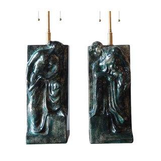 Pair of Figural Ceramic Table Lamps