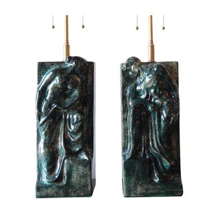 Pair of Figural Ceramic Table Lamps