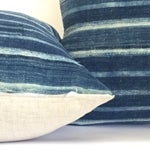 Image of Vintage African Indigo Stripe Pillows - A Pair