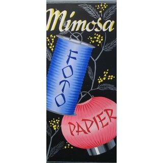 Original 1927 Lithographic Mini Poster - Mimosa