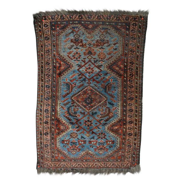 Antique Persian Khamseh Tribal Rug - 2′8″ × 3′9″ - Image 1 of 7