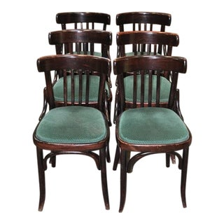 1920's Vintage Bentwood Pub Chairs - Set of 6