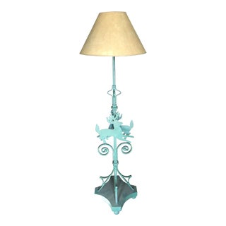 Deer Motif Wrought Floor Lamp