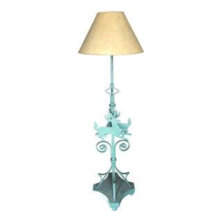 Deer Motif Wrought Floor Lamp