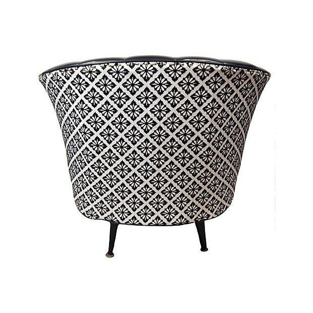 Black & White Swivel Club Chair - Image 3 of 3