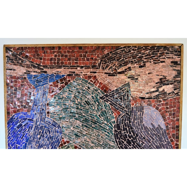 Cubist Glass Mosaic Wall Sculpture - Image 3 of 11
