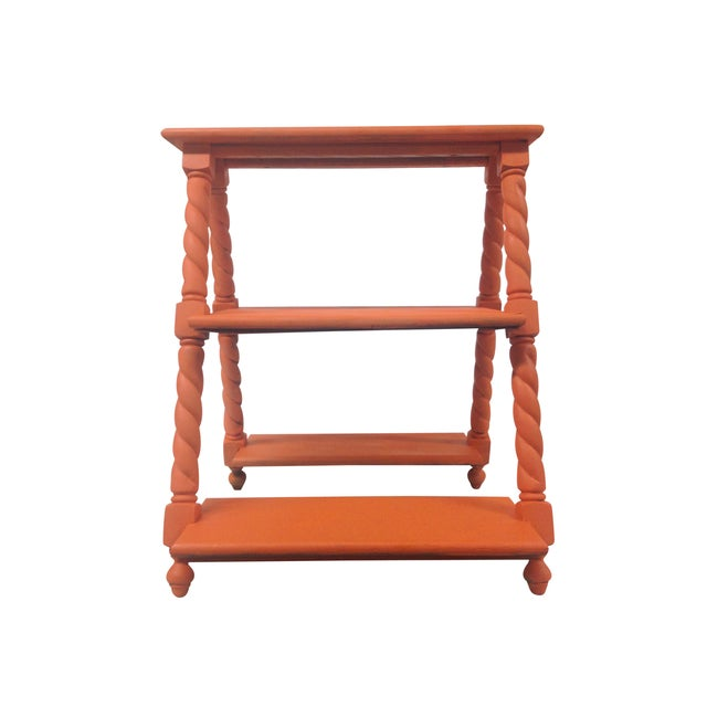 Orange Painted Three Tiered Stand - Image 2 of 5