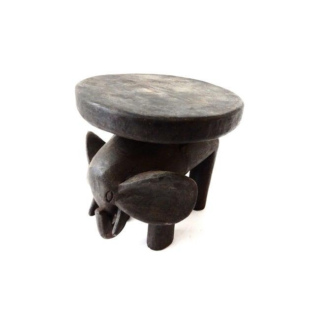 Carved Elephant Milk Stool - Image 4 of 11