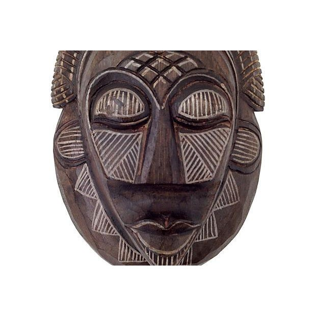 Image of Indonesian Handcarved and Painted Tribal Mask