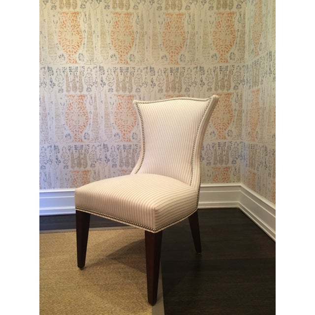 Lee Industries Cream Dining Chairs - Set of 8 - Image 2 of 6