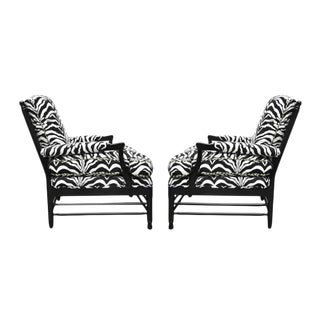 Zebra Upholstered Chairs - A Pair