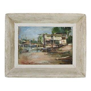 Florida Coastal Scene Oil Painting