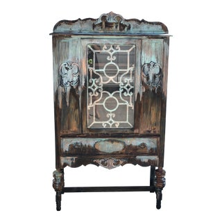 Copper and Rust Patina Cabinet