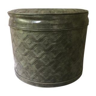 Vintage Gray Ottoman