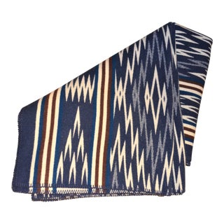 Pendleton Vintage Indigo and Chocolate Blanket