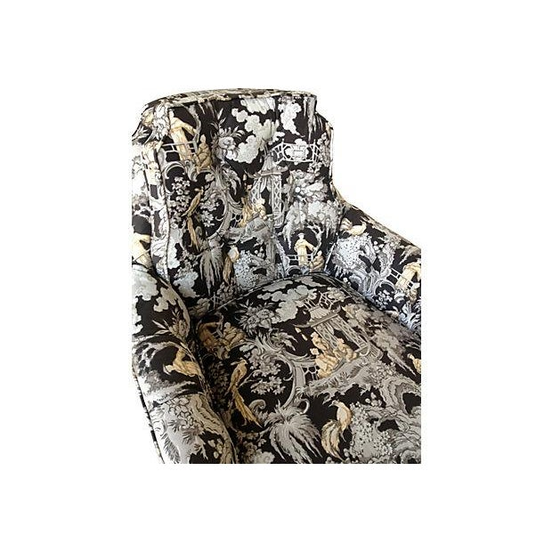 Toile Club Chair - Image 5 of 6