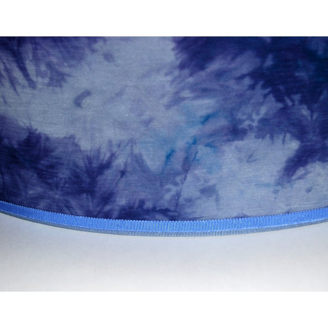 Image of Blue Hand Dyed Fabric Lampshade