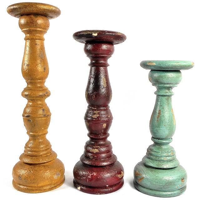 Boho Chic 3-Piece Candleholder Set - Image 1 of 6