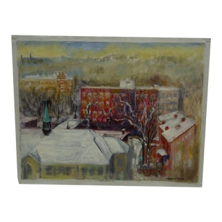 "Matilda S. Dovey ""The View"" Original Painting on Canvas"