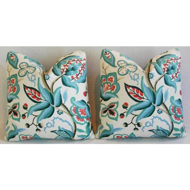 Schumacher Alexandra Floral Velvet Pillows - a Pair - Image 5 of 10
