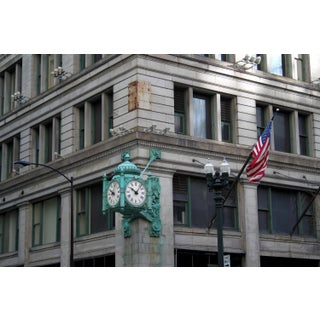 Marshall Field's Clock, State Street Photograph by Josh Moulton
