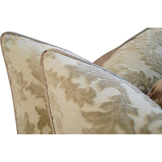 Gray French Cut/Uncut Velvet Pillows - A Pair - Image 5 of 7
