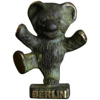 Brass Berlin Bear Figurine in the Style of Walter Bosse